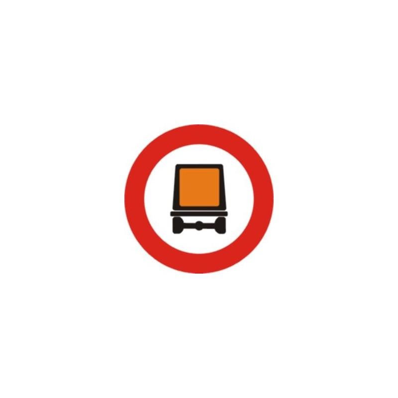 R108-Entrada prohibida a vehicles que transportin mercaderies perilloses Tipus Económica - Ref- R108
