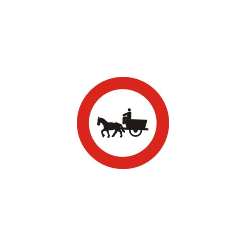 R113-Entrada prohibida a vehicles de tracció animal - TIPUS ECONÒMICA