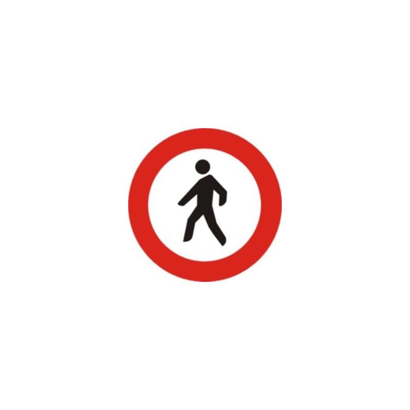 R116-Señal Vial Entrada prohibida a peatones - Referencia R116