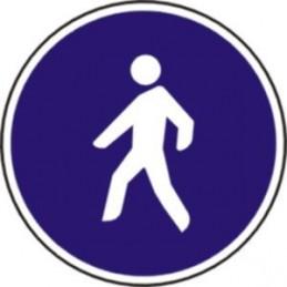 Camino reservado para peatones