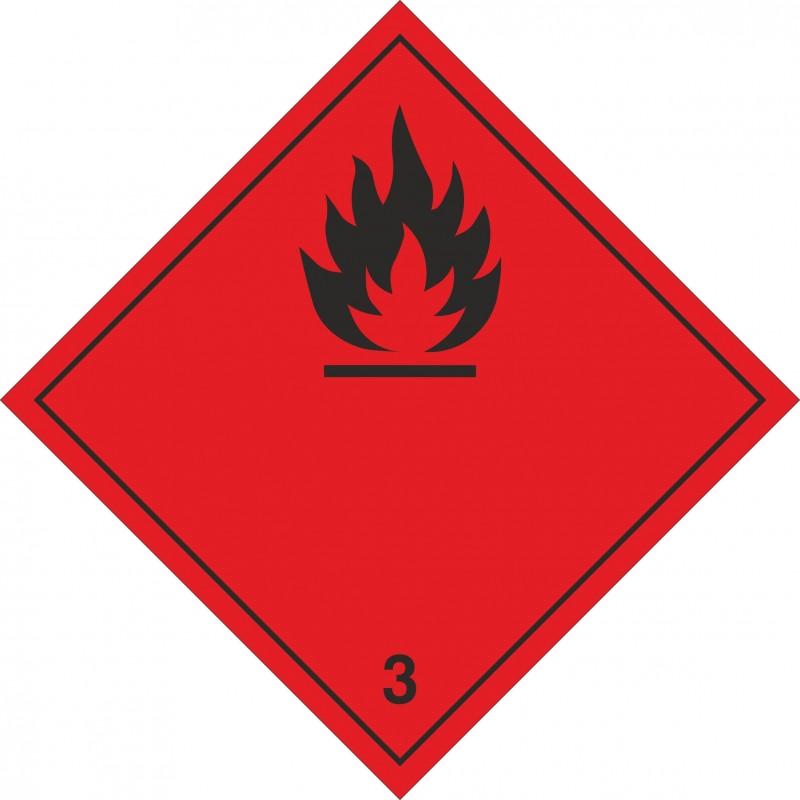 030AS-Etiqueta Líquidos inflamables marginal 3
