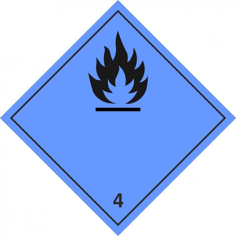 043AS-Etiquetas Emanación gas inflamable marginal 4