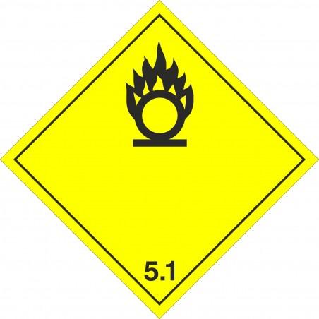 Etiqueta ADR Materias Comburentes marginal 5.1