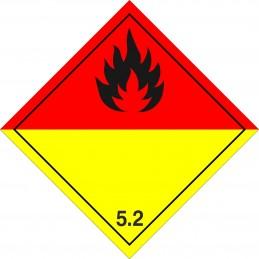 SYSSA - Tienda Online - ADR - Etiquetas adhesivas ADR Peróxidos orgánicos marginal 5.2