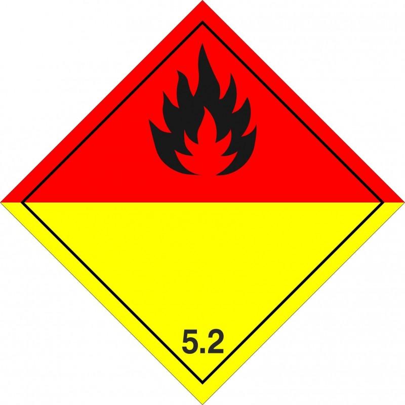 052AS-Etiquetas ADR Peróxidos orgánicos marginal 5.2