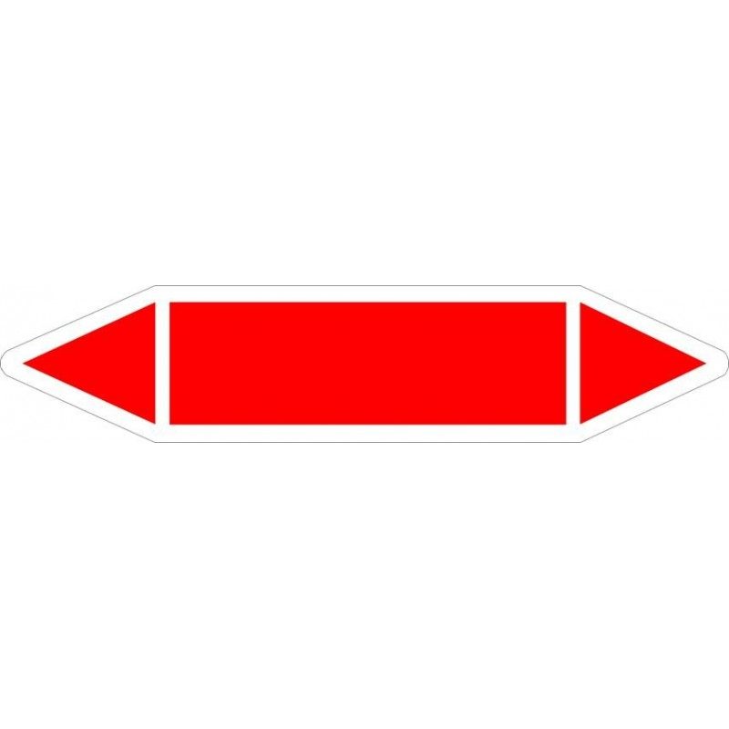 TUB02ST-Etiquetas tuberías color Rojo sin texto