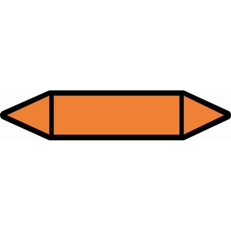 TUB06ST-Etiquetas tuberías color Naranja sin texto