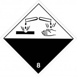 SYSSA - Tienda Online - ADR - Etiquetas adhesivas ADR Materias corrosivas marginal 8