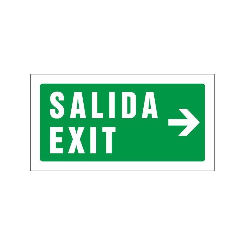 510S-Cartel Salida Exit derecha - Referencia 510S