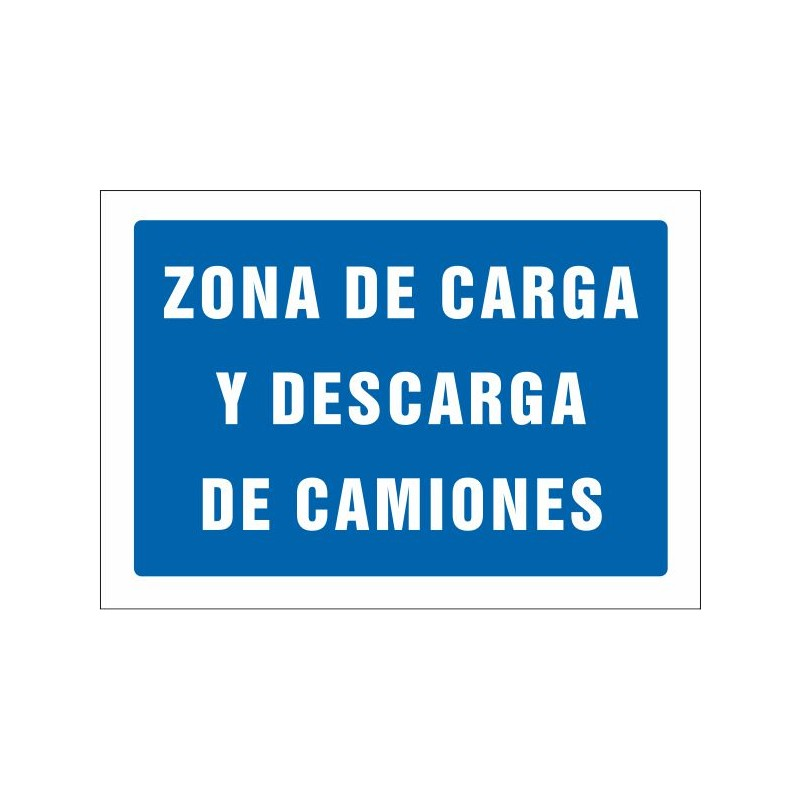 552S-Senyal Zona de càrrega i descàrrega de camions - Referència 552S