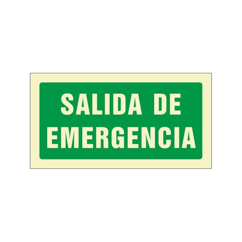 503F-Cartel Salida de emergencia Fotoluminiscente - Referencia 503F