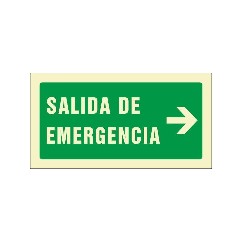 504F-Señal Salida de emergencia derecha Fotoluminiscente - Referencia 504F