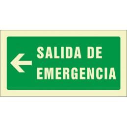 SYSSA,Señal Salida de emergencia izquierda