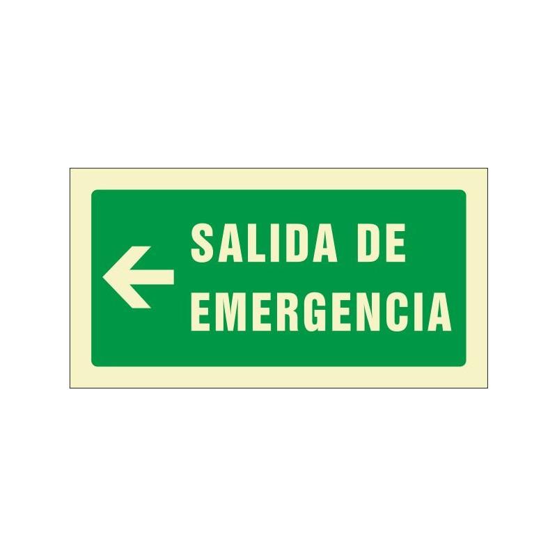 505F-Cartel Salida de emergencia izquierda Fotoluminiscente - Referencia 505F