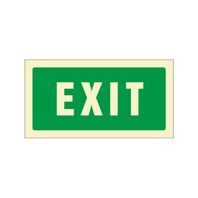 506F-Cartel Exit Fotoluminiscente - Referencia 506F