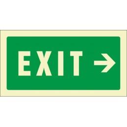 Senyal Exit dreta...