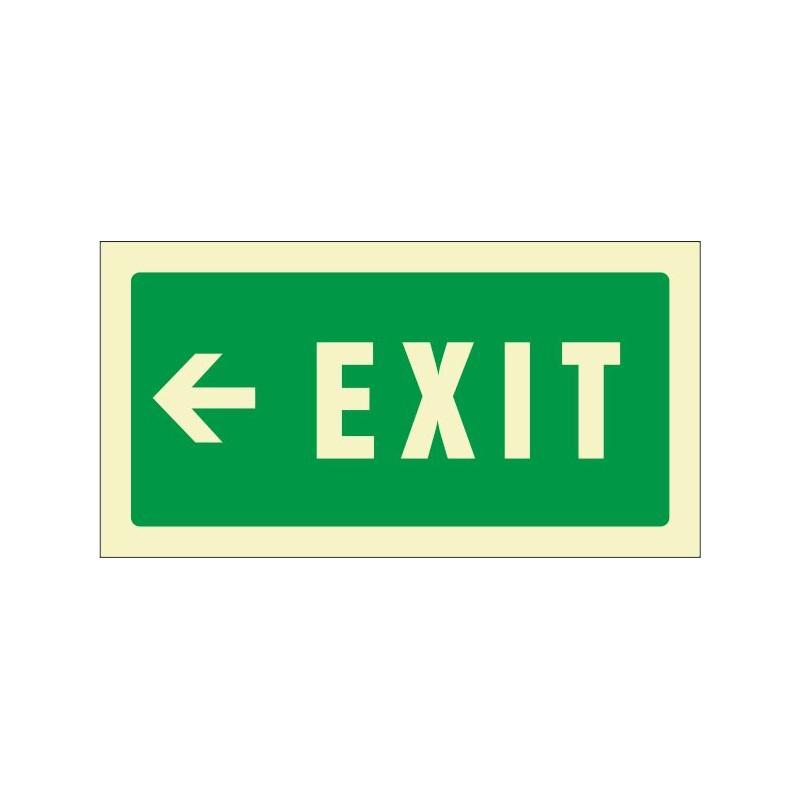 508F-Senyal Exit esquerra fotoluminiscent - Referència 508F