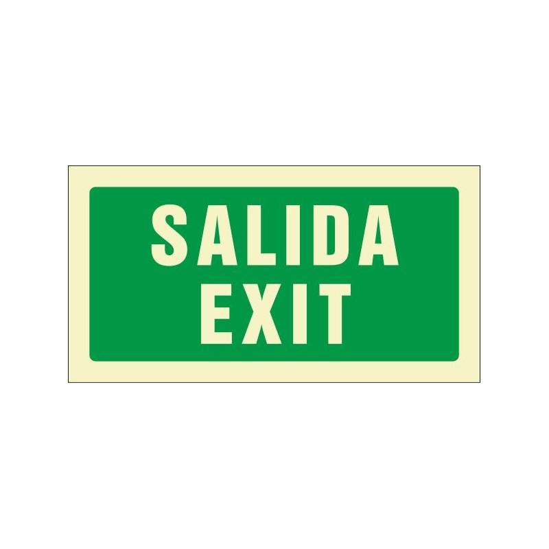 509F-Cartel Salida Exit Fotoluminiscente - Referencia 509F