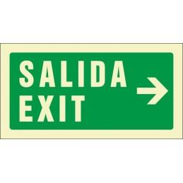Senyal Sortida Exit dreta...
