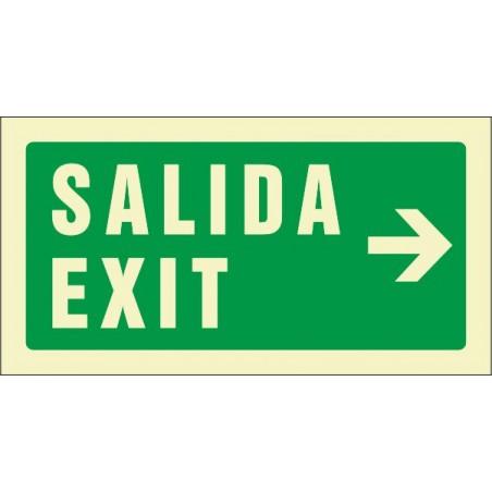 Salida Exit derecha