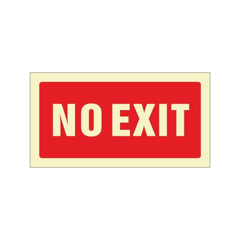 516F-Senyal No exit fotoluminiscent - Referència 516F