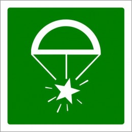 SYSSA,Señal Bengalas de socorro con paracaídas