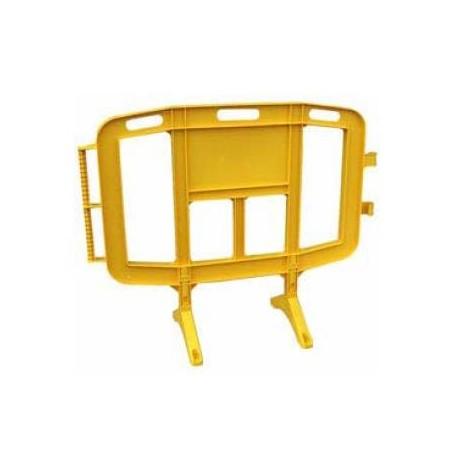 Valla peatonal amarilla 1,20 m.