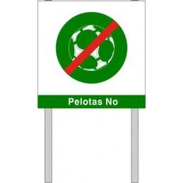 Placa para jardin Pelotas No