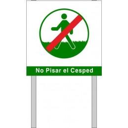 Placa para jardin No Pisar...