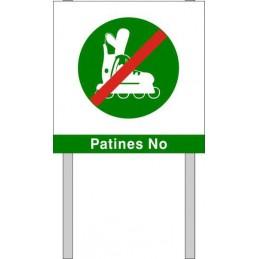 Placa para jardin Patines No