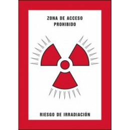 SYSSA,Señal Zona de acceso prohibido Riesgo de irradiación