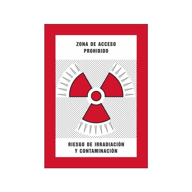 8008S-Zona de acceso prohibido Riesgo de irradiación y contaminación