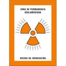SYSSA,Señal Zona de permanencia reglamentada Riesgo de irradiación
