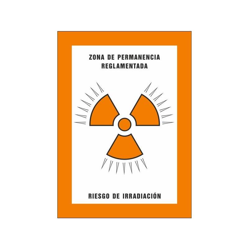 8011S-Zona de permanència reglamentada. Risc d'irradiació