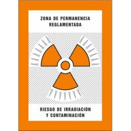 SYSSA,Señal Zona de permanencia reglamentada Riesgo de irradiación y c