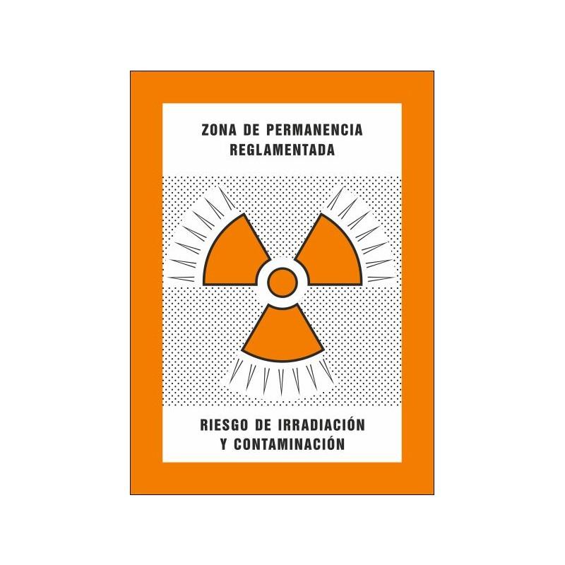 8013S-Zona de permanència reglamentada. Risc d'irradiació i contaminació