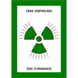 SYSSA,Señal Zona controlada Riesgo de irradiación