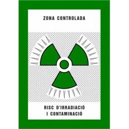 SYSSA,Señal Zona controlada Riesgo de irradiación y contaminación