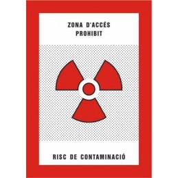 SYSSA,Señal Zona de acceso prohibido Riesgo de contaminación