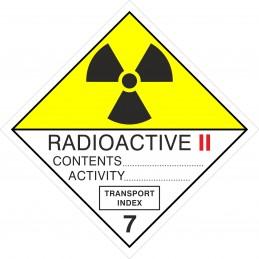 SYSSA - Tienda Online - ADR - Etiquetas adhesivas ADR Materias Radioactive II, figura 7B