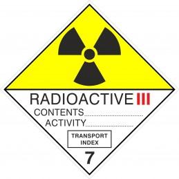 SYSSA - Tienda Online - ADR - Etiquetas adhesivas ADR Materias Radioactive III, figura 7C
