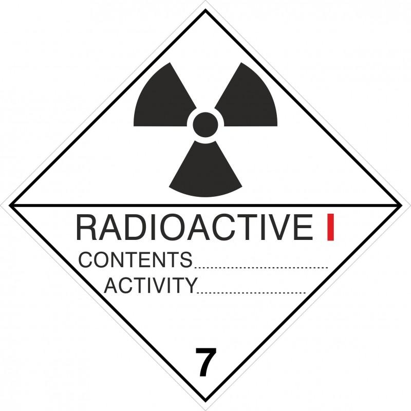 07AAS-Etiqueta ADR Radioactive I, figura 7A