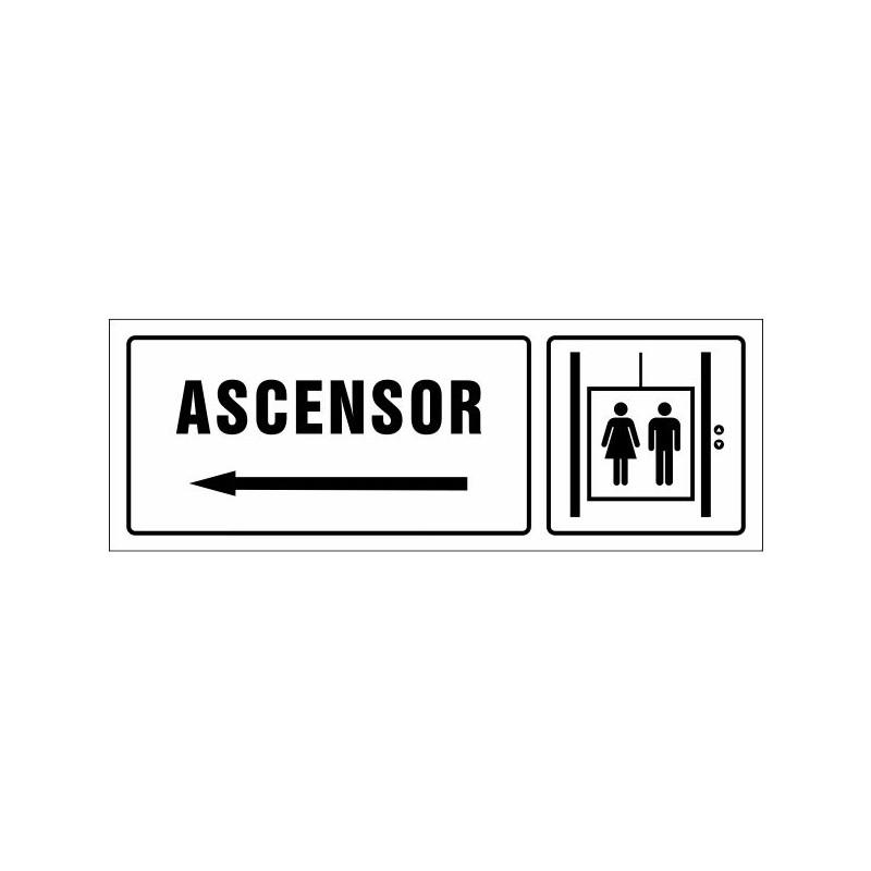 1633S-Cartell Ascensor esquerra - Referència 1633S
