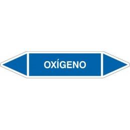 Tienda SYSSA - Etiquetas tuberías color Azul con texto Oxígeno, en color blanco