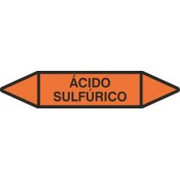 """Tienda SYSSA - Etiquetas tuberías color Naranja con texto """"Ácidos"""""""