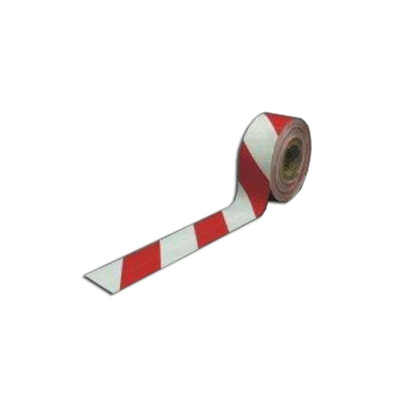 00CB-Cinta balizamiento roja-blanca rollo 250m.