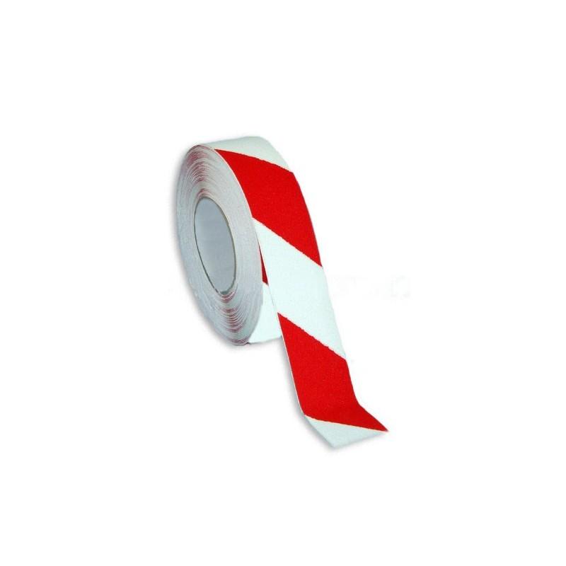 SYSAS40-Cinta Antideslizante Blanca-roja