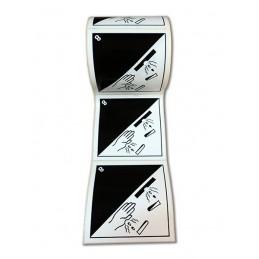 SYSSA - Tienda Online - Etiquetas ADR Materias corrosivas marginal 8 -10x10 cm