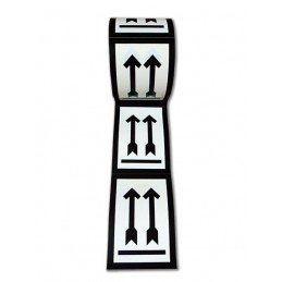 SYSSA - Rollo de etiquetas Mantener en posición vertical - 500 Unidades