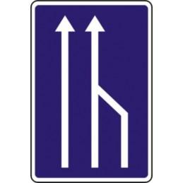 Carril cerrado circulación
